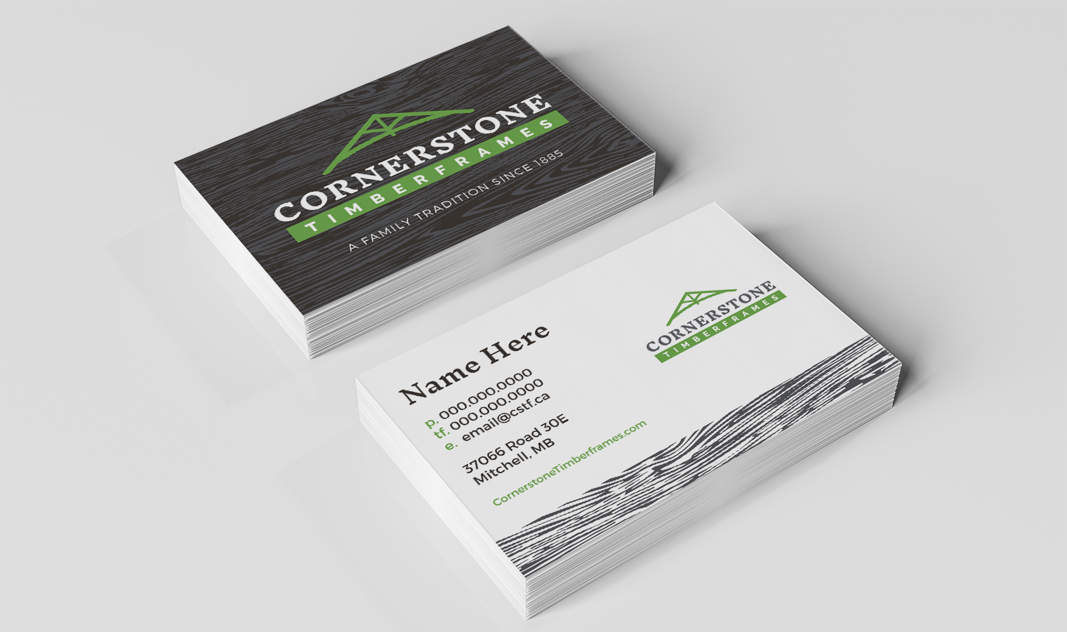Cornertsone Timberframes Business Cards