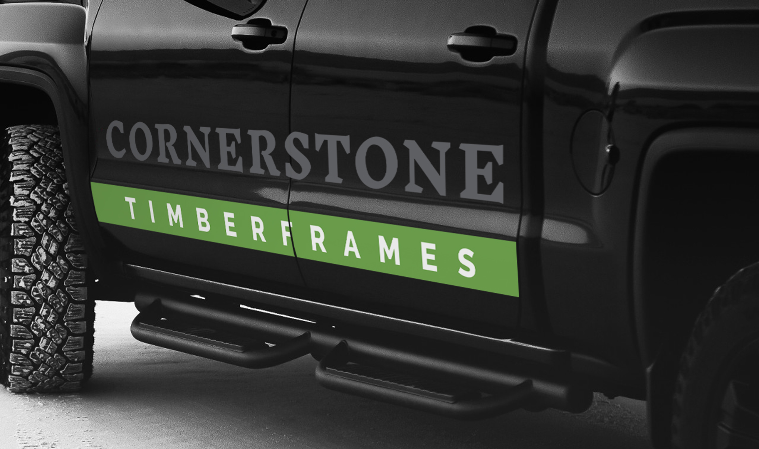 Cornertsone Timberframes Trucks Decal
